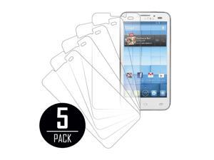 Clear Screen Protector Cover, Alcatel Onetouch Snap, 5-Pack