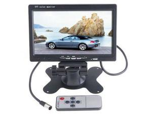 "Etekcity® 7"" TFT LCD Car Monitor Car Rearview Backup Camera Monitor With Support Rotating The Screen + 2 AV Input DVD VCR + Remote Control"