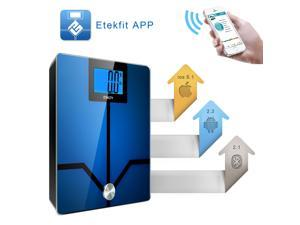 Etekcity Etekfit Digital Bathroom Bluetooth Body Fat Weight Scale, 1-Year Warranty, FCC/CE/ROHS Approved