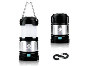 Etekcity 1 Pack Portable Rechargeable LED Camping Lantern Flashlights & 4400mah USB Power Bank (Black)