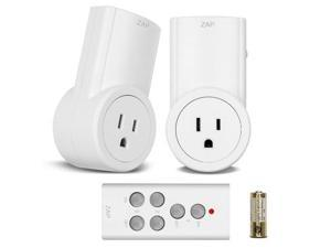 Etekcity 2 Packs Wireless Remote Control Outlets AC Electrical Power Outlet Wifi Switch Plug Plates with Remote (Battery Included)