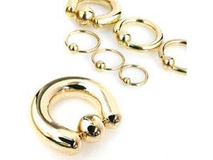 "14k gold plated captive bead, 18 ga,Diameter/ball size:3/8"" (10mm) with 5/32"" (4mm) ball(s)"