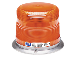 ECCO Amber Low Profile Switchable Intensity Strobe 6650