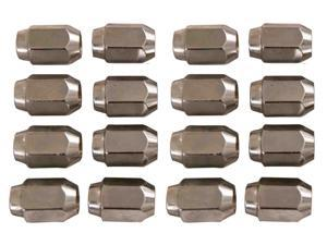 16 Pack of Chrome Lug Nuts 12MM Metric for Yamaha Golf Carts