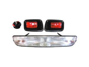 EZGO TXT and EZGO Medalist Headlight / Taillight Kit with Light Bar