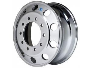 One Alcoa Aluminum Wheel 883111, 22.5 x 8.25 Stud Piloted Polished Outside