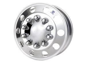 One Alcoa Aluminum Wheel 983122, 24.5 x 8.25 Stud Piloted Polished Inside