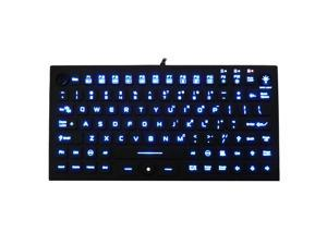 Waterproof Industrial Silicone Compact Keyboard with Mouse Pointer JH-IKB850BL
