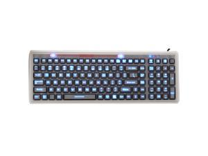 Industrial Silicone Full Size LED Backlit Membrane Keyboard JH-MB106BL