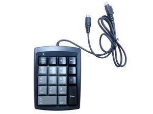 18 Keys Ultra Low Profile Black PS/2 Numeric Keypad DKP 18