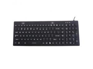 Industrial Silicone Full Size Backlit Keyboard – IKB106BL with IP68
