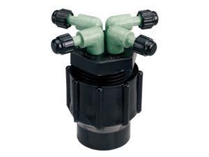 """Orbit Drip Irrigation System 4-Port Watering Manifold, 1/4"""" Dripper Tube, 61004D"""