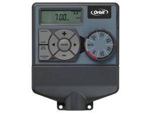 Orbit 4 Station Easy Dial Sprinkler Irrigation Timer, Yard Watering Clock, 91874
