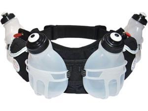 FuelBelt Trail Runner Hydration Belt with Four 7oz Bottles: Black One Size