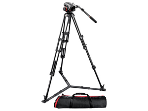 Manfrotto 504HD Head with 546GB 2-Stage Aluminum Tripod Kit
