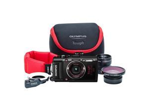 Olympus Stylus TOUGH TG-4 Digital Camera Ultimate Adventure Kit (Black)