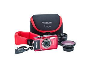 Olympus Stylus TOUGH TG-4 Digital Camera Ultimate Adventure Kit (Red)