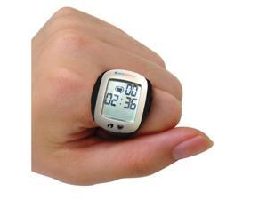 Carepeutic Heart Rate Monitor Ring With Stopwatch, Clock, and Pedometer