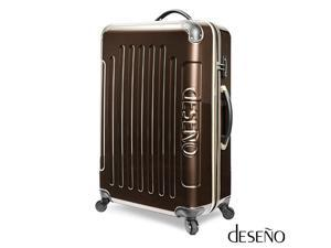 """Desono Legend 7010 Series Luggage with Carbon Veins – Brown/Gold – 20"""""""