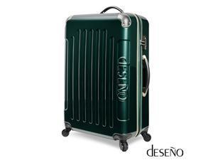 "Desono Legend 7010 Series Luggage with Carbon Veins – Midnight Green – 20"""