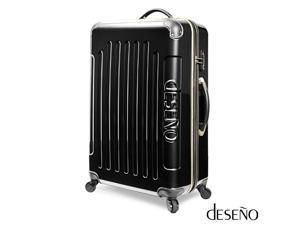 "Deseno Legend 7010 Series Luggage with Carbon Veins – Black – 24"""