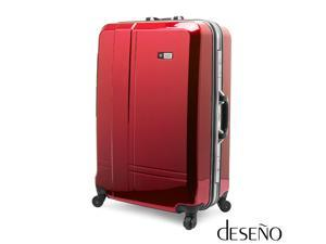 """Deseno Skywalker 6001 Series Luggage with Aluminum Frame – Red – 24"""""""
