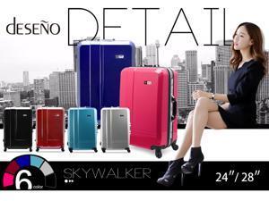"Deseno Skywalker 6001 Series Luggage with Aluminum Frame – Black – 28"""
