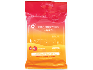 JasmineSeven Kids Fresh Feet Wipes Travel Pack - 10 ct - Grapefruit
