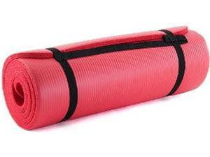 """ProSource High Density 71"""" Exercise Yoga Mat with Carrying Straps - Red"""