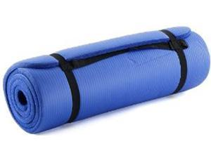 """ProSource High Density 71"""" Exercise Yoga Mat with Carrying Straps - Blue"""