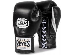 Cleto Reyes Official Lace Up Competition Boxing Gloves - 8 oz. - Black