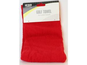 IZZO Golf Pro Towel - Red