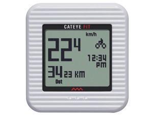 CatEye Fit Wireless Cycling Computer/Walking Pedometer - White
