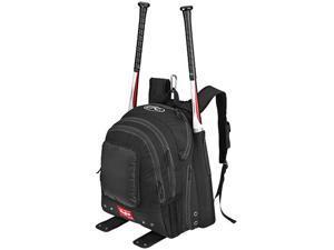Rawlings Baseball Player Backpack Bat Bag - Black