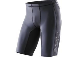2XU Men's Elite Compression Shorts - XS - Black/Steel