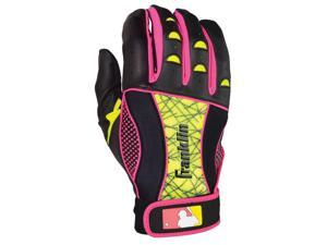 Franklin Insanity Women's Batting Gloves - Large - Black/Neon Pink/Optic Yellow