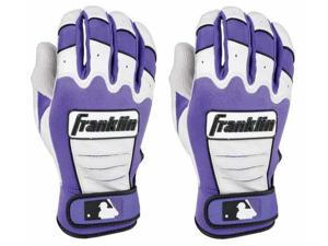 Franklin CFX Pro Adult Batting Gloves - Small - Pearl/Purple