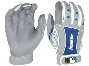 Franklin Insanity II Youth Batting Gloves -Small - Gray/Royal Blue