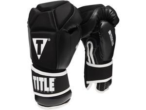 Title Sculpted Thermo Foam Training Gloves - 16 oz - Black