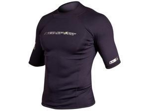 NeoSport Men's 1.5mm Neoprene X-Span Short Sleeve Shirt - XL - Black