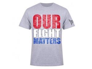 Tapout Our Fight Matters T-Shirt - 2XL - Heather Gray