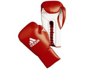 Adidas Glory Professional Lace Up Boxing Gloves - 8 oz. - Red/White