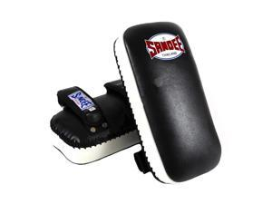 Sandee Extra Thick Flat Thai Kick Pads - Black/White