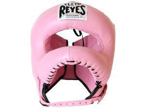 Cleto Reyes Traditional Leather Boxing Headgear with Nylon Face Bar - Pink