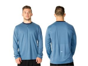 RVCA VA Sport Plata Long Sleeve Henley - XL - Desert Blue