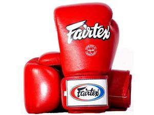 Fairtex Tight-Fit Design Universal Boxing Gloves - 18 oz - Red