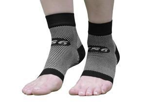 OrthoSleeve FS6 Compression Foot Sleeves - Small - Black
