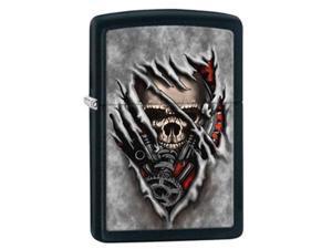 Zippo Steampunk Skull Black Matte Pocket Lighter