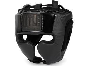 Title Black Training Headgear - Large