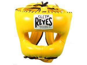 Cleto Reyes Traditional Leather Headgear with Nylon Face Bar - Yellow